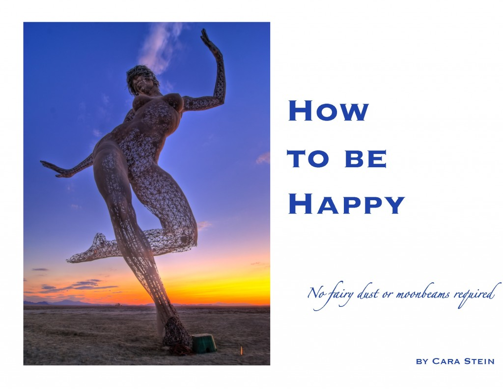 How to be Happy (No Fairy Dust or Moonbeams Required) book cover photo