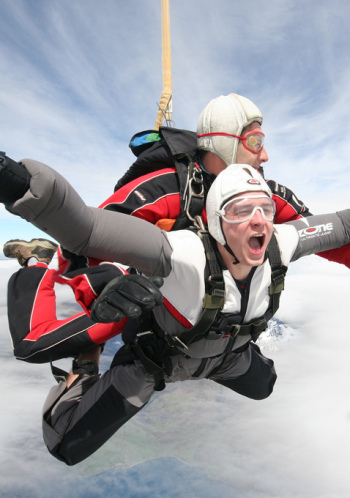 Skydiving: conquering fear, or just really damn scary?