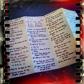 An elaborate to-do list