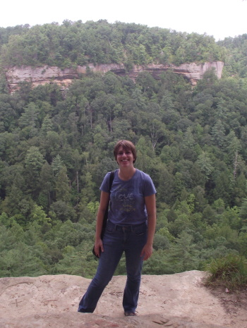 time for vacation: me at Devil's Canyon at Red River Gorge