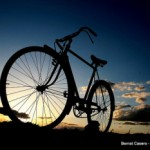 Silhouette of a bicycle