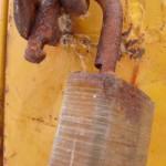 an unlocked padlock