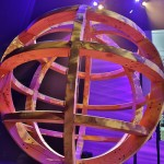 World Domination Summit globe on stage