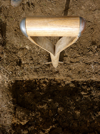 shovel digging a hole
